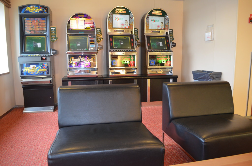 Slot machines available for your on board entertainment