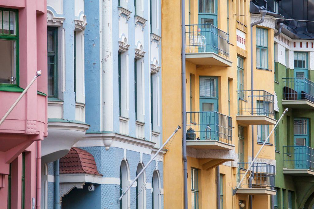 colourful buildings in Helsinki