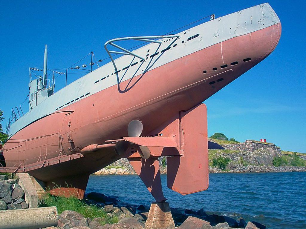 submarine in Helsinki