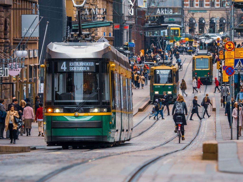 Trams in Helsinki