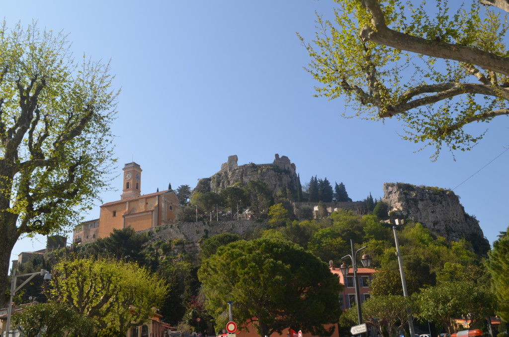 View of Eze, France from the bus station