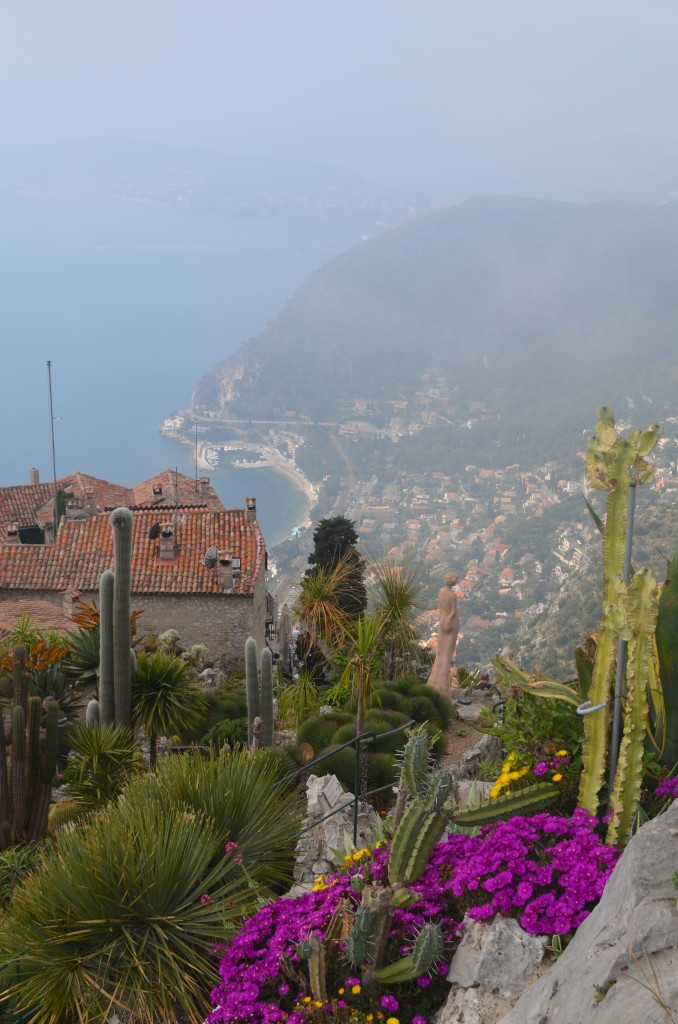 Foggy views from the Jardin Exotique in Eze