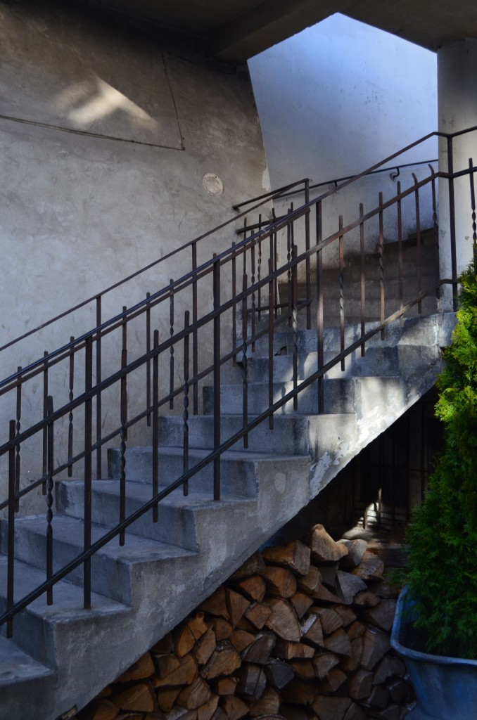 This staircase was one of many setting in the Jewish Quarter used for the filming of Schindler's List