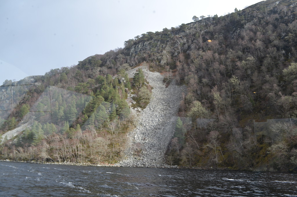 According to the story, this is where Nessie tried to escape Loch Ness