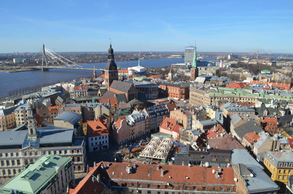 Old Town Riga from above
