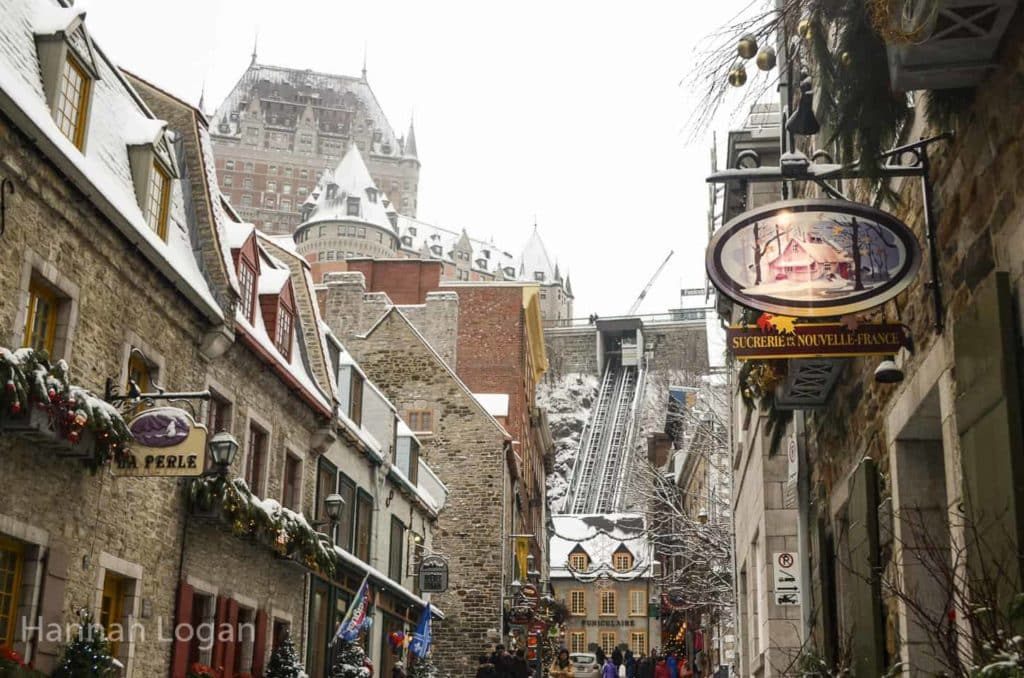 Quebec City in Winter, lower Old town
