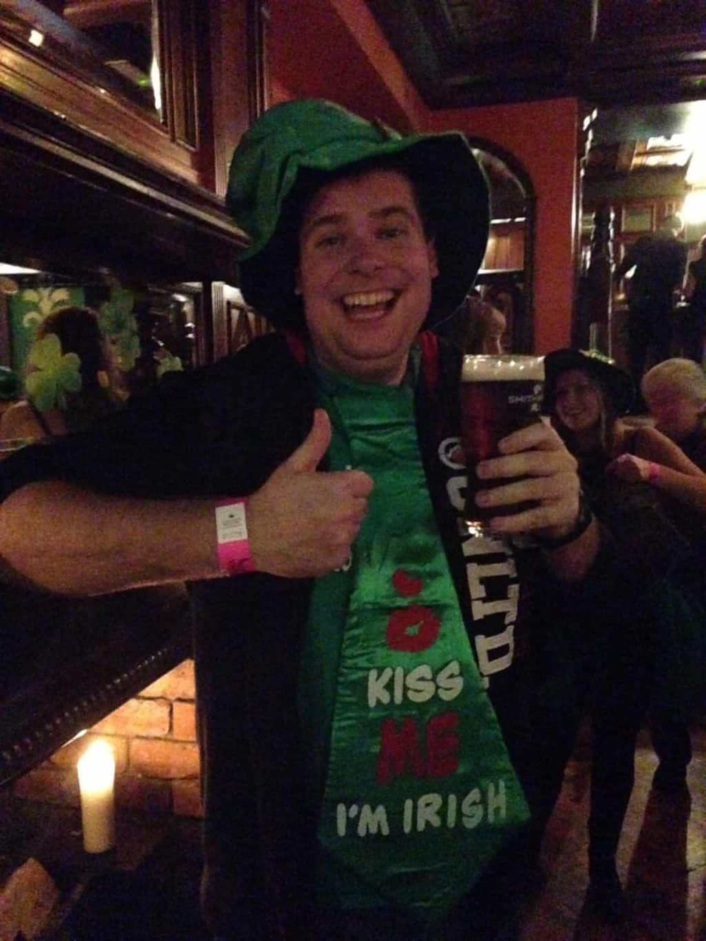 if nothing else, he definitely had a good time on St. Patrick's Day