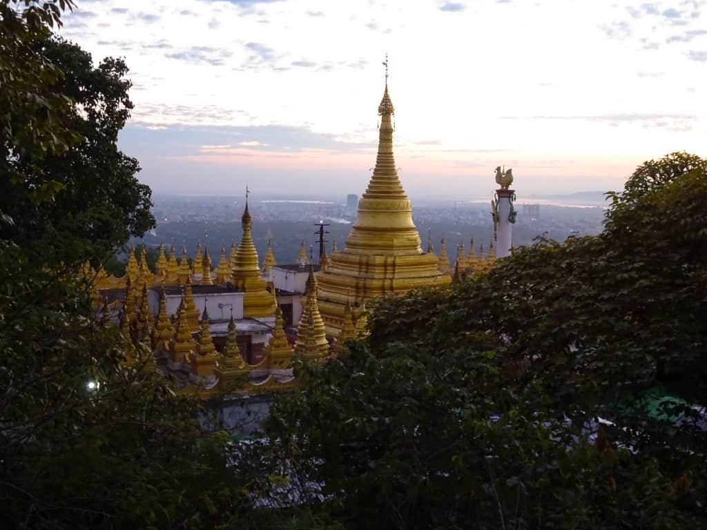 Sunset at Mandalay Hill