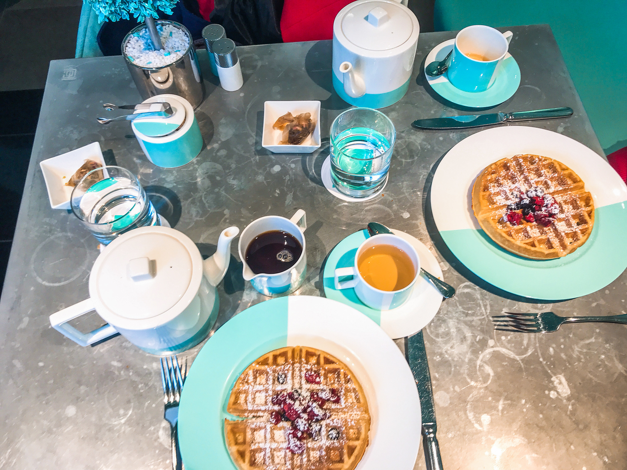 Breakfast at Tiffany's Blue Box Cafe