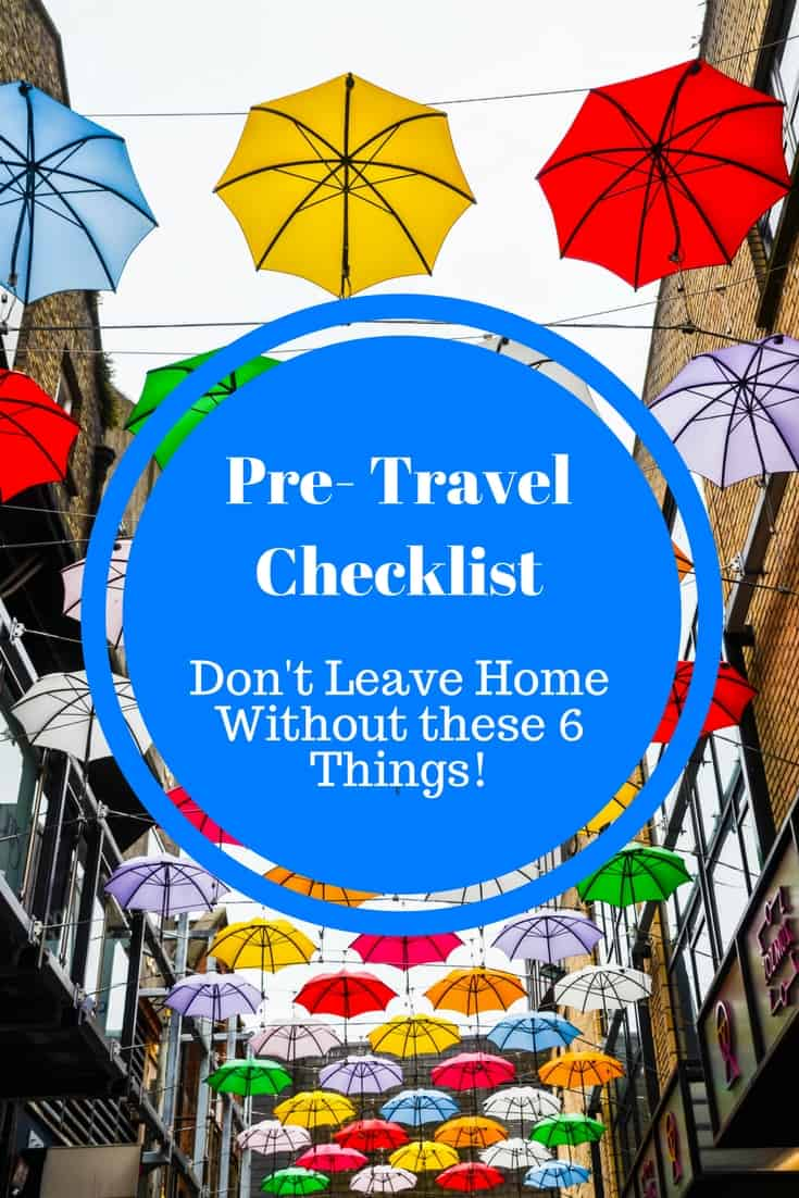 Pre-travel checklist: don't leave home without these items! From travel insurance to travel apps, here are my top tips. #travel #packingtips #travelplanning #travelinspiration