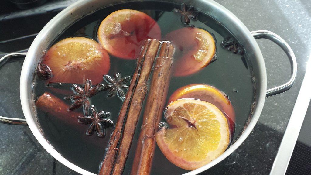 Glühwein in a pot