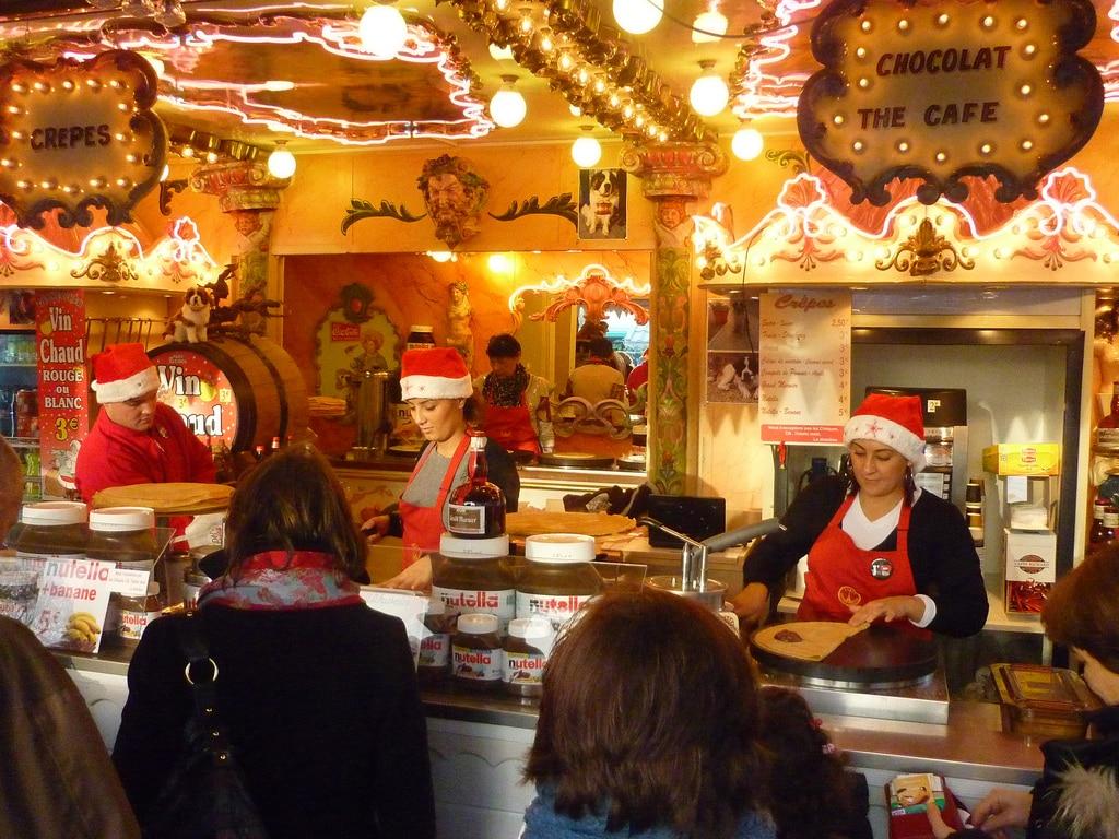 Christmas market in Paris