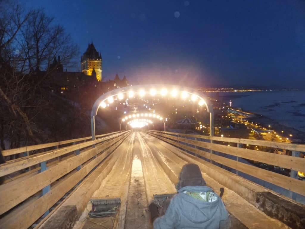 Quebec City Ice Slide