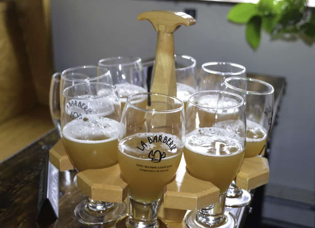 Mugs of Craft beer in Quebec City