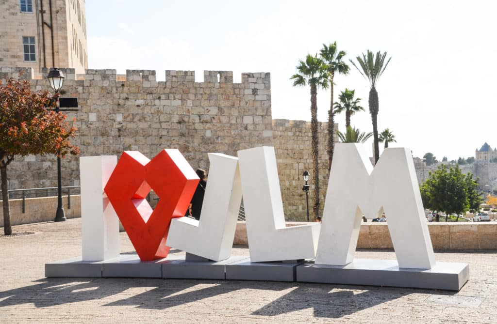 I Love Jerusalem Sign