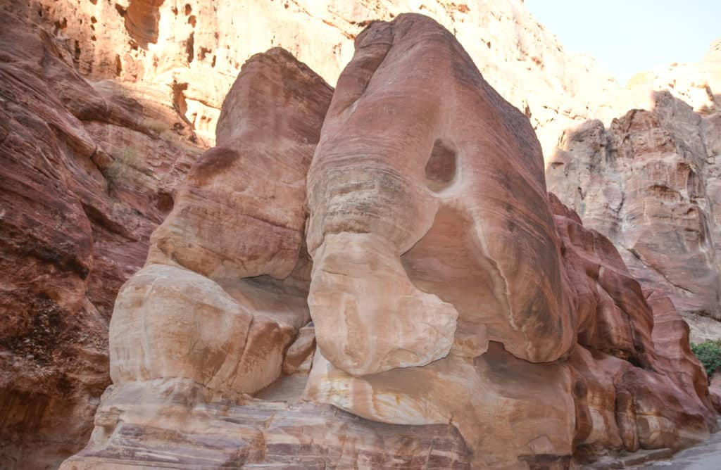 elephant rock in the Siq