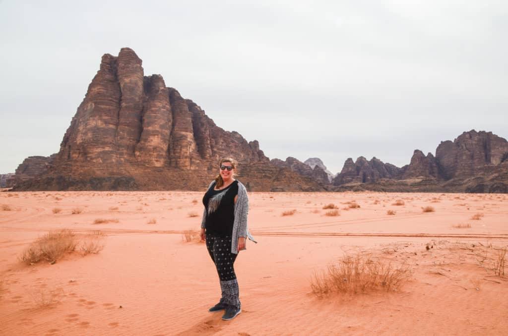 Standing in Wadi Rum, Jordan