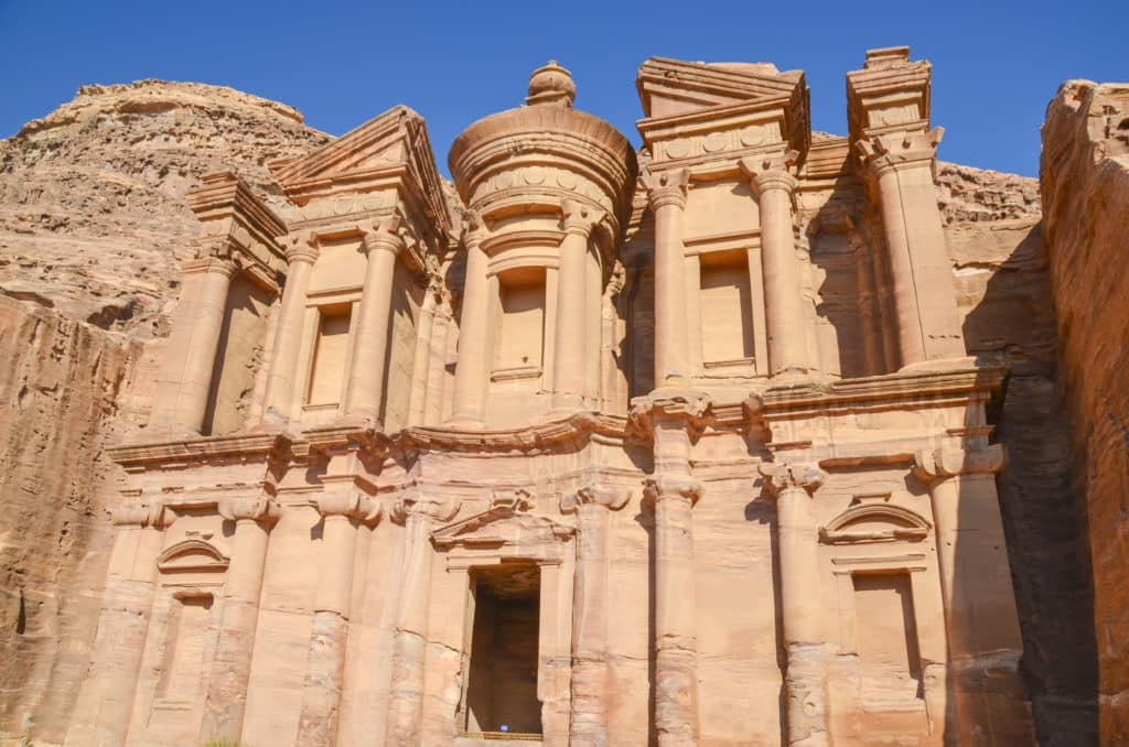 Outside of the Petra Monastery