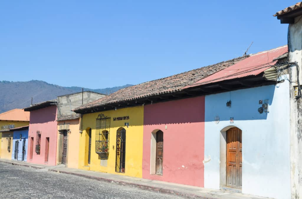 Colourful houses in Antigua, Guatemala
