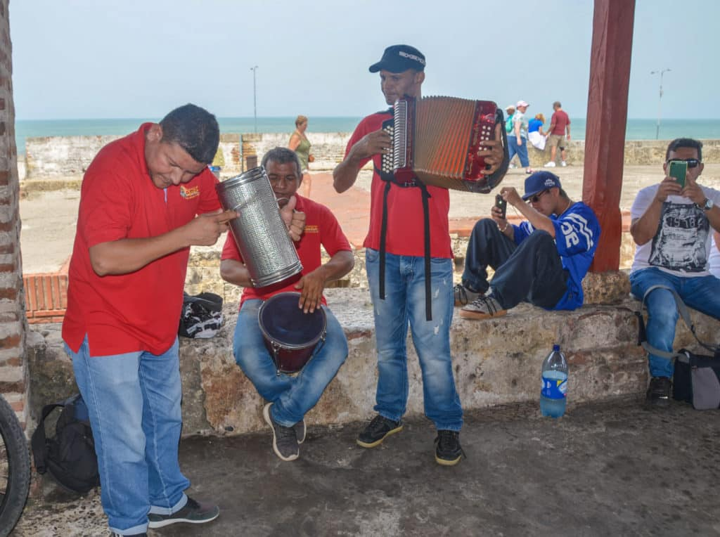 Musicians on Walls of Cartagena