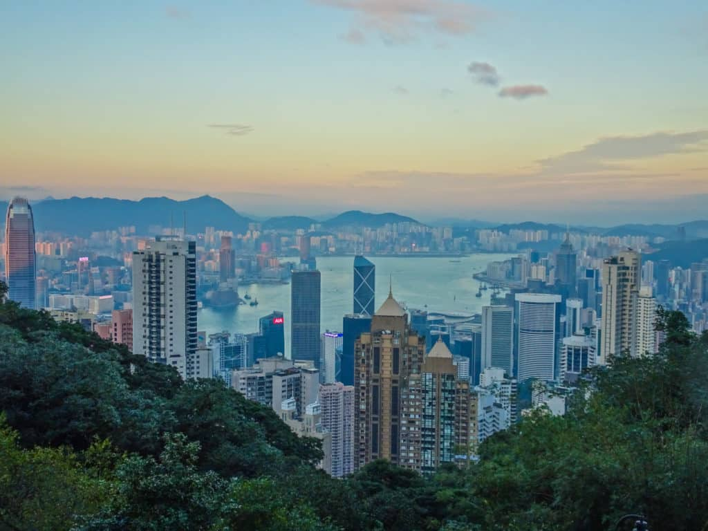 Sunset at Victoria Peak, Hong Kong
