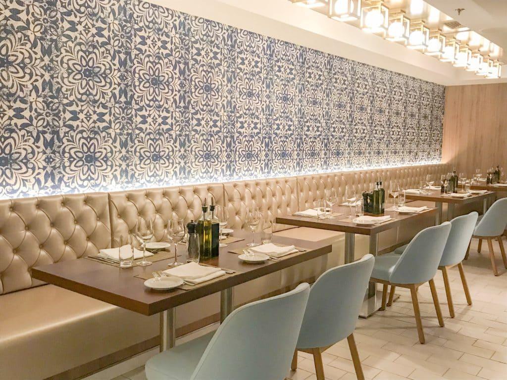 Italian restaurant on Norwegian Star