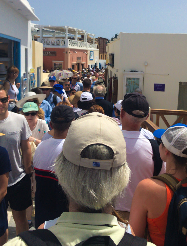 Santorini Crowds