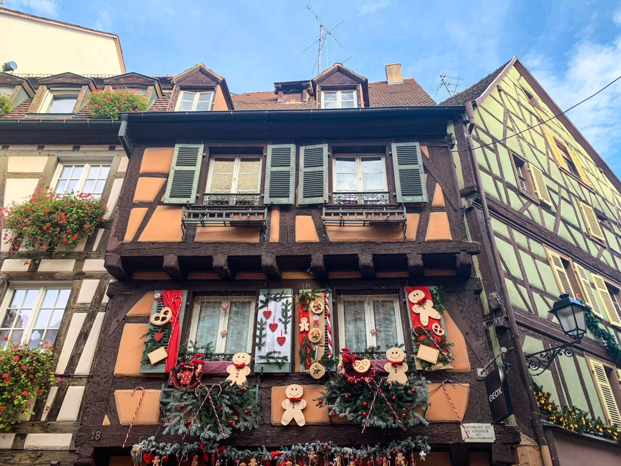 Gingerbread decorated house in Colmar, France