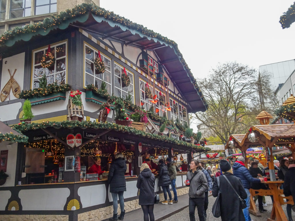 Christmas Market hut in Cologne