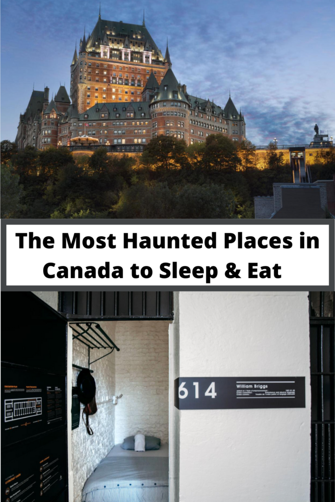 The most haunted places in Canada pin