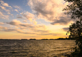 sunset in the 1000 Islands